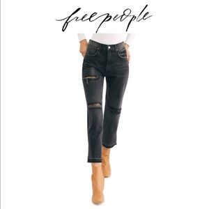 NWT Free People Crop Straight Leg Jeans